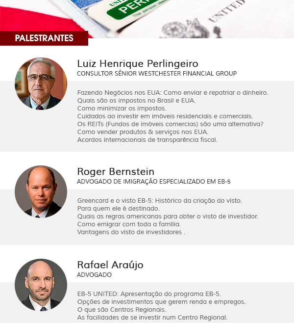 EVENTO NO RIO DE JANEIRO APONTA CAMINHOS PARA IMIGRAÇÃO AOS EUA
